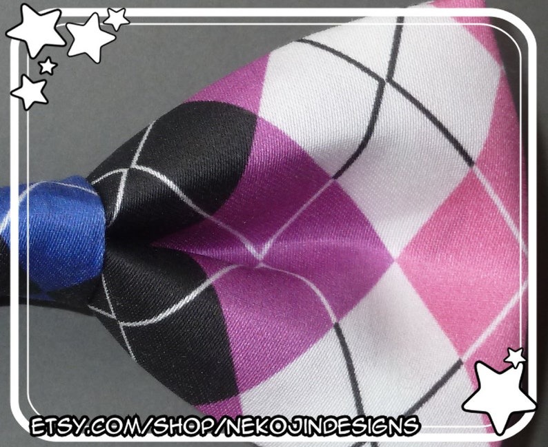 6bdb3a430bffd Genderfluid Pride Bow Tie / Hair Clip - queer clothing accessory gender  fluid handmade argyle pride flag clip on bowtie hairclip