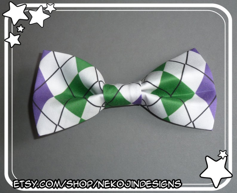 9b781ff450ff6 Genderqueer Pride Bow Tie / Hair Clip - non binary enby queer clothing  accessory argyle pride flag clip on bowtie hairclip gender neutral
