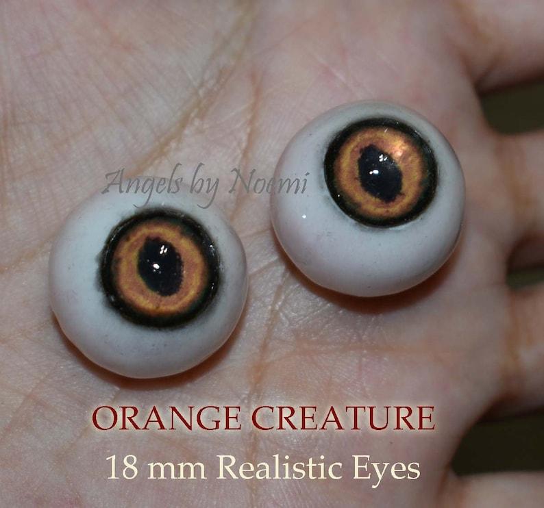 Hand Made Resin Eyes 18mm  Lifelike Acrylic eyes Realistic image 0