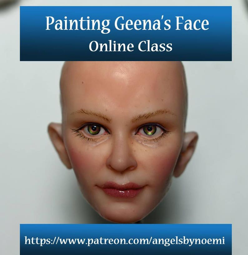 Online Class Painting a Realistic Face for Polymer image 0