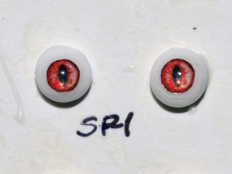Hand Made Dragon Eyes 6mm  Red SR1  Fantasy  Character  image 0