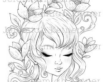 Spring Love - Coloring Page