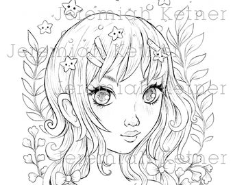 Oh My Stars - Coloring Page