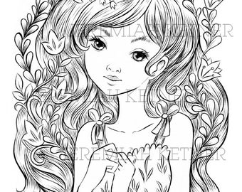 Flora - Coloring Page