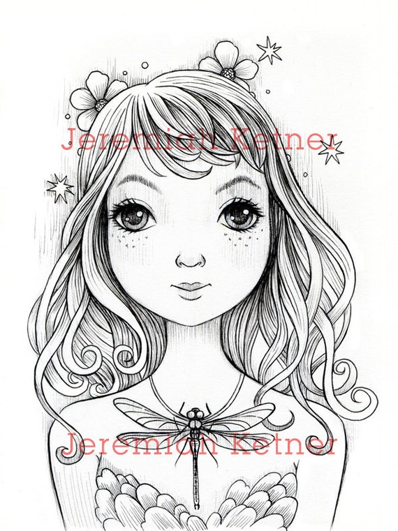 Dragonfly Digital Coloring page   Etsy
