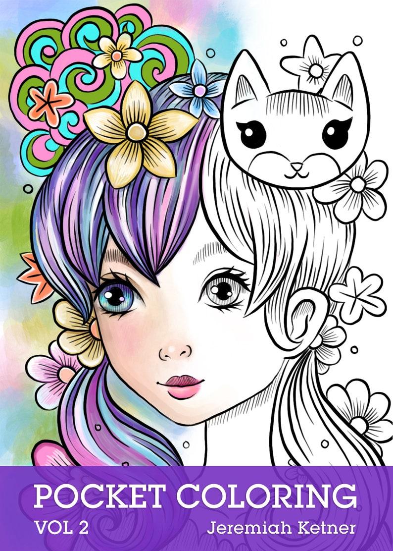 PDF Download Pocket Coloring Book Vol 2 Jeremiah Ketner