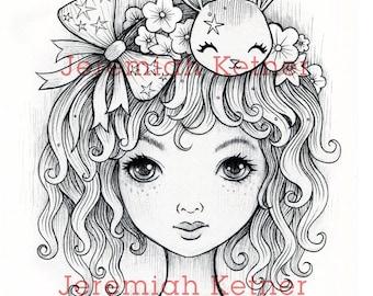 Ivy Curls - Digital Coloring page