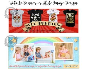 Custom Blog Banner or Website Header Blogger Banner WordPress Header Slideshow Image Web Slides