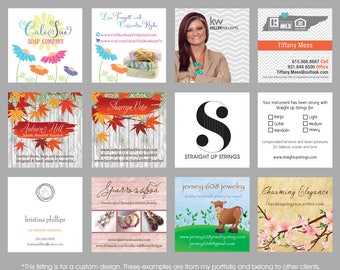 Business Card Design, Hang Tag Design, Care Card Design, Etsy Business Card, Real Estate Agent, Hair Stylist, Salon, Custom, Graphic Design