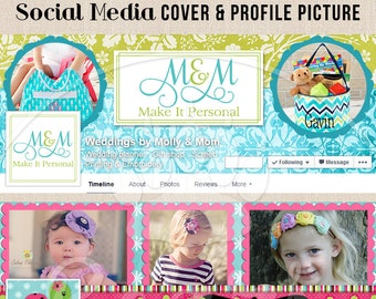 Custom Twitter Header and Profile Picture Design Set