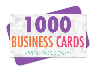 Business Cards Printed, 1000 Standard Business Cards, 3.5x2 Inches, Eco Friendly Printing, Single or Double Sided