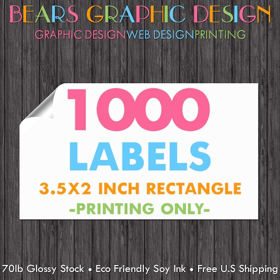 1000 printed labels business card labels sticker printing reheart Gallery