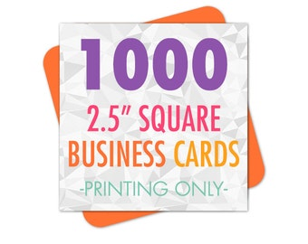 Business Cards, Business Card Printing, 1000 Square Business Cards, Printed Business Cards, Square Business Cards, Square Cards