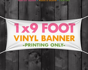 Vinyl Craft Show Banner 1x9 Foot for your Table, Tent or Booth, 12 inch by 9 foot banner for a 10x10 Tent Canopy, Street Fair, Festival