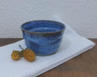Bowl - Handmade Stoneware Pottery Ceramic - Indigo Blue - 1-1/2 cups