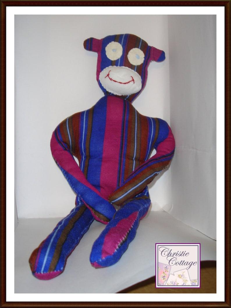 Sock Monkey Sewing Pattern No Socks PDF Not a Finished image 0