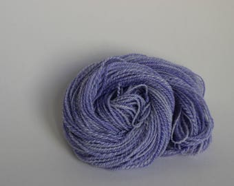 Hand spun 2ply merino/silk yarn Soft Purple