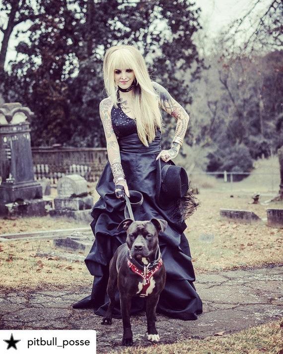 Black Vintage Wedding Dress, Black Gothic Wedding