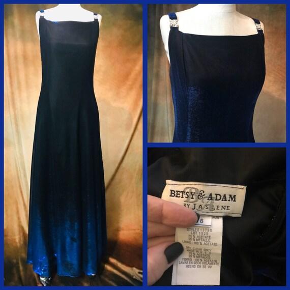 Vintage 80's Prom Dress, Small Blue Prom Dress, 80