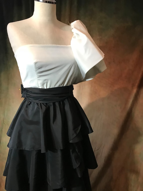 Vintage 80's Prom Dress, 80's Party Dress, Small … - image 10