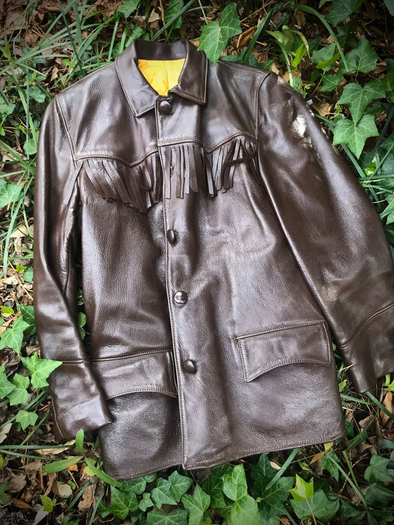 70s Fringe Jacket, Womens Fringe Jacket, Leather F
