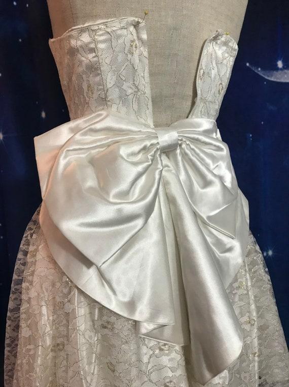 Vintage Wedding Dress, Size 2 Wedding Dress, Whit… - image 6