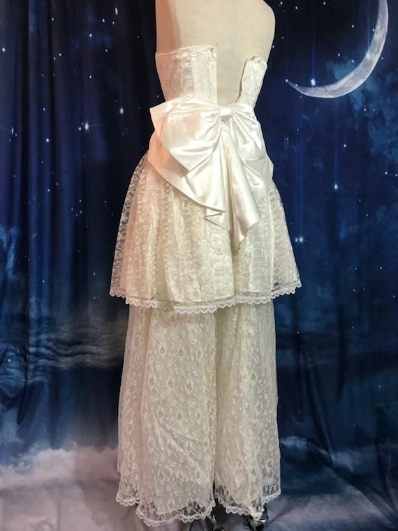 Vintage Wedding Dress, Size 2 Wedding Dress, Whit… - image 9