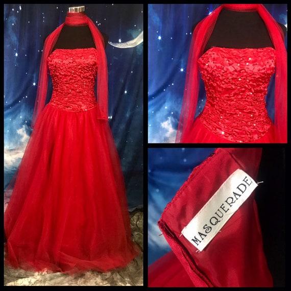80s Prom Dress,Vintage 80s Prom Dress, Small Vinta