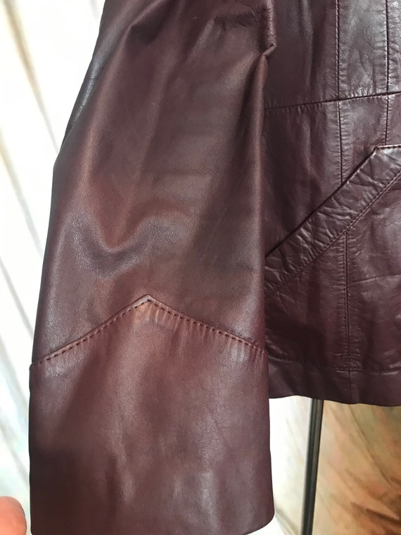Mens Vintage Brown Leather Jacket, Size 40 Mens L… - image 4