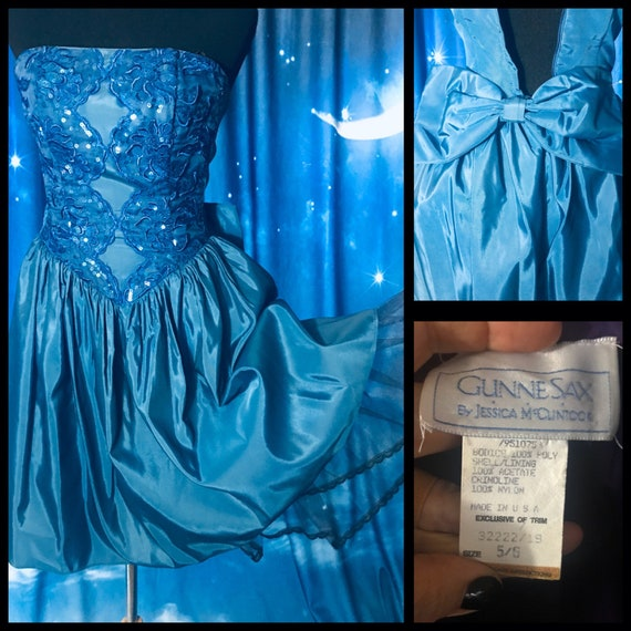 Vintage 80's Prom Dress, Gunne Sax 80s Prom Dress,