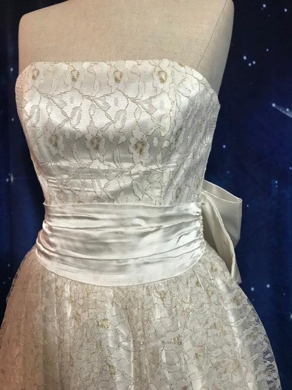 Vintage Wedding Dress, Size 2 Wedding Dress, Whit… - image 7