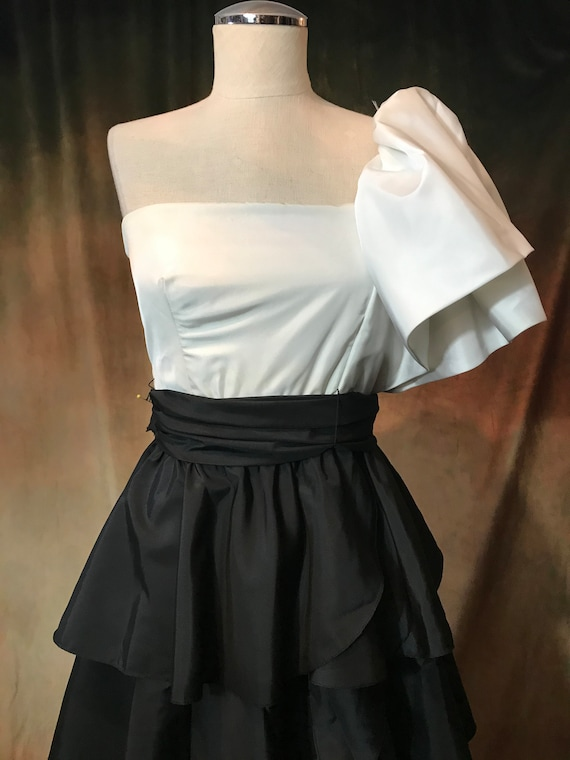 Vintage 80's Prom Dress, 80's Party Dress, Small … - image 4