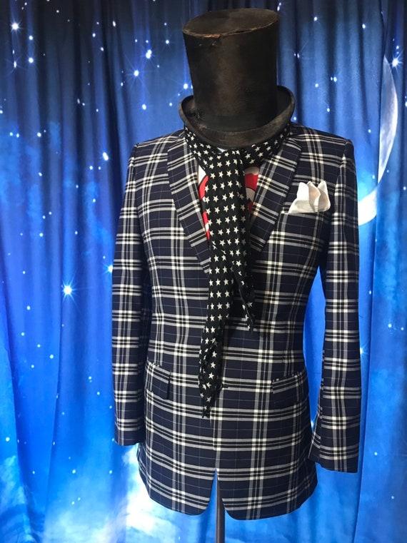 Mens Vintage Suit Jacket/Plaid Suit Jacket/Size 3… - image 1
