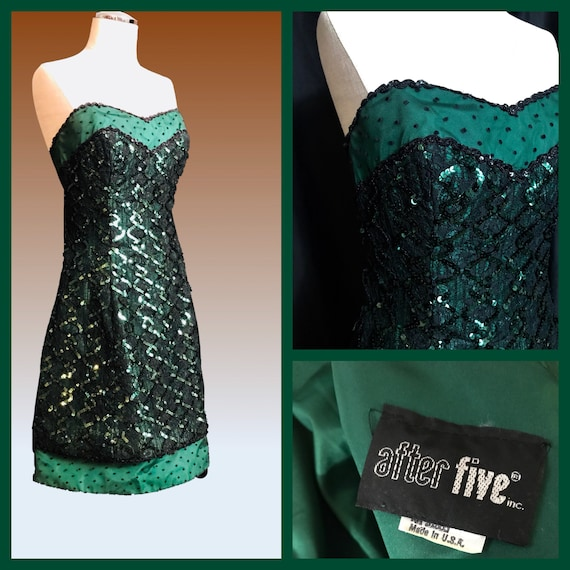 Vintage 80's Prom Dress, Small Prom Dress, Straple