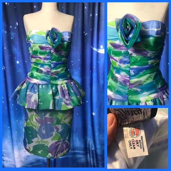 Vintage 80's Prom Dress, 80's Party Dress, Size 4