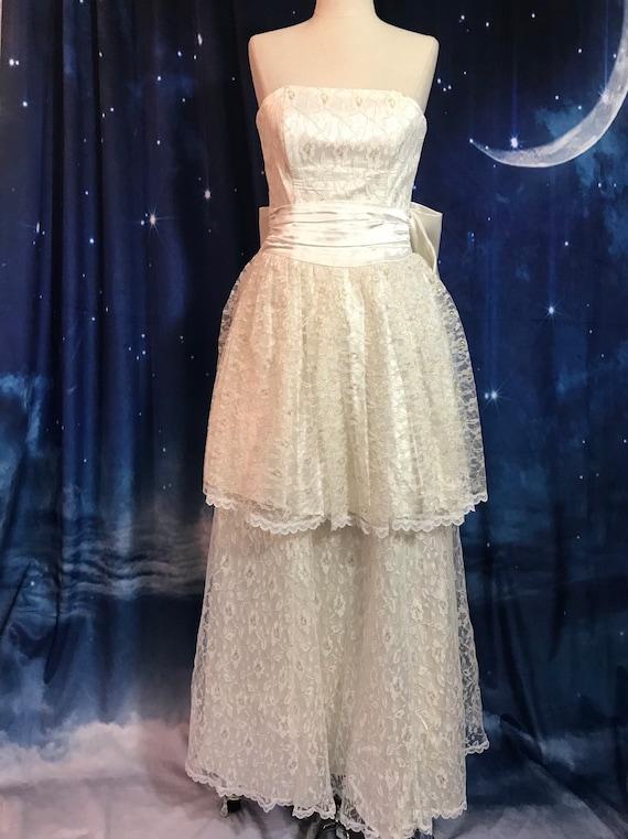 Vintage Wedding Dress, Size 2 Wedding Dress, White