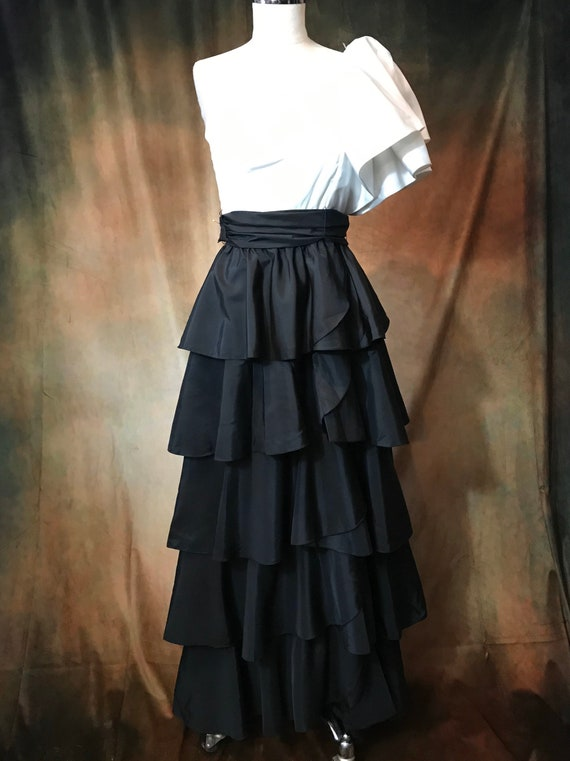 Vintage 80's Prom Dress, 80's Party Dress, Small … - image 6