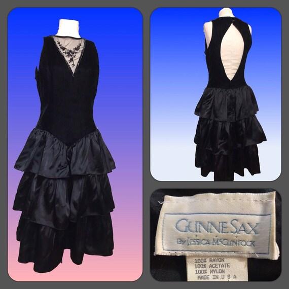Vintage 80s Prom Dress, Jessica McClintock Prom Dr