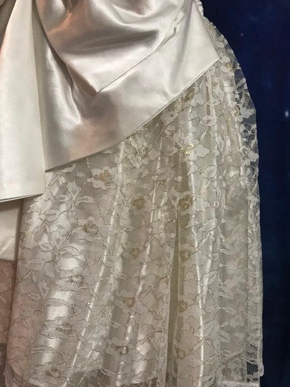 Vintage Wedding Dress, Size 2 Wedding Dress, Whit… - image 8