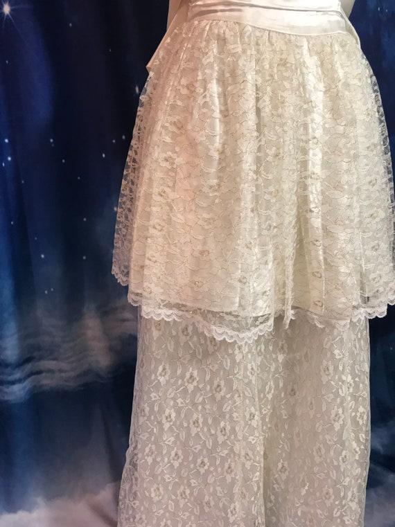 Vintage Wedding Dress, Size 2 Wedding Dress, Whit… - image 4
