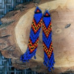 NEW Xtra-Long Seed Bead Earrings - Cobalt