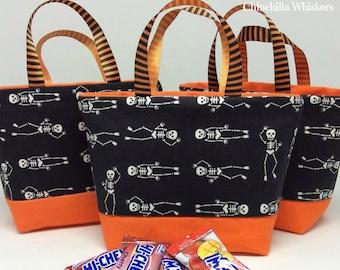 Halloween Treat Bag with Skeletons