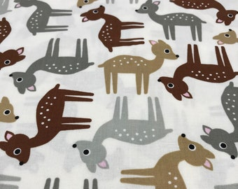 3/4 Yard (27 Inches) of Woodland Pals by Ann Kelle for Robert Kaufman Screen Print D# 13765