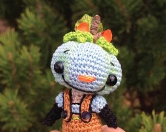BOO E BLUE Miniature Punkin Hedz Doll Pdf Crochet Pattern by Peggytoes