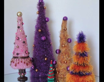 Anyday Holiday Christmas Tree Digital PDF Crochet Pattern Decoration Decor Many Sizes and Styles Yarns Tips Ornaments
