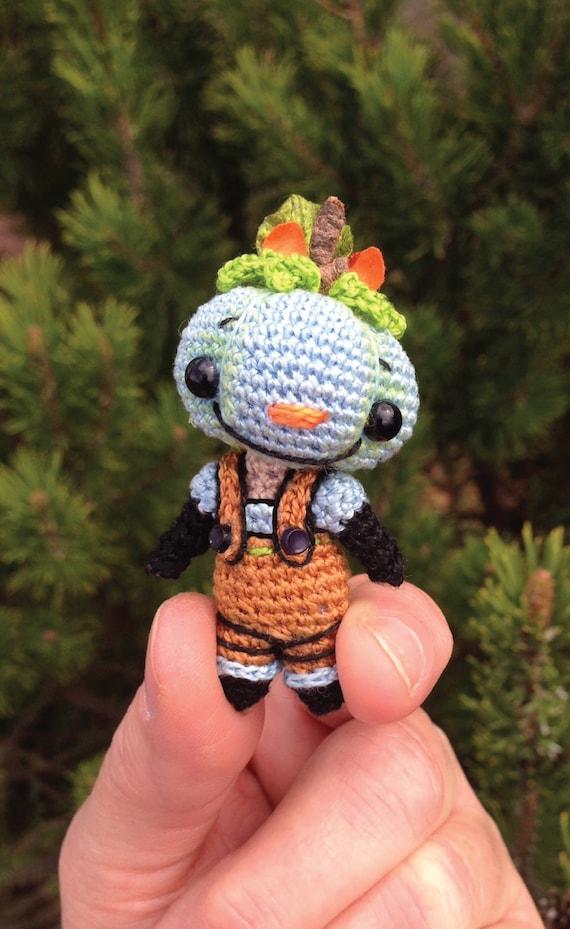 Boo E Blue Miniature Punkin Hedz Doll Pdf Crochet Pattern Or Etsy