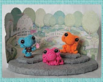 Digital PDF Miniature Frog Crochet Pattern  a Sinker Baby Pattern by Peggytoes