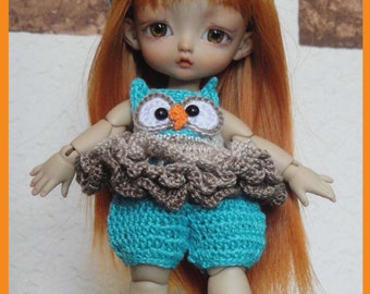 Ruffly Rags Owl Romper Outfit Boots and Headband Digital PDF Crochet Pattern