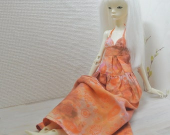 Boho Maxi dress for Doll Chateau bjd Kid