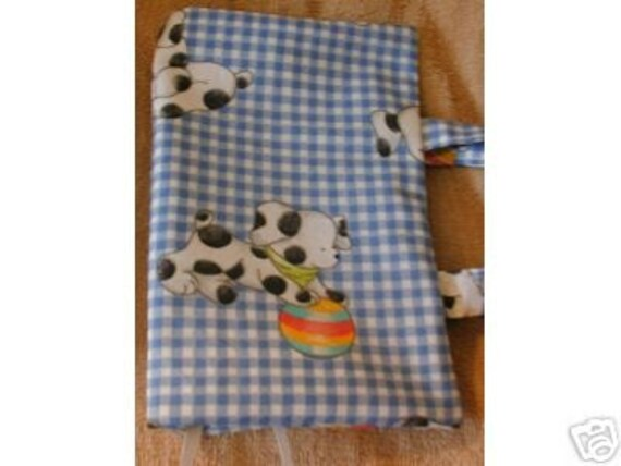 Fabric Paperback Book Covers With Handles : Free shipping playful puppies fabric paperback book cover